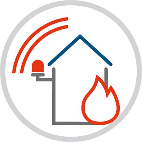 Grafik Brandmeldeanlage - Eine Initiative der Polizei - Rupprecht Alarmanlagen aus Hamm - Seit mehr als 35 Jahren auf elektronische Sicherheitssysteme spezialisiert.