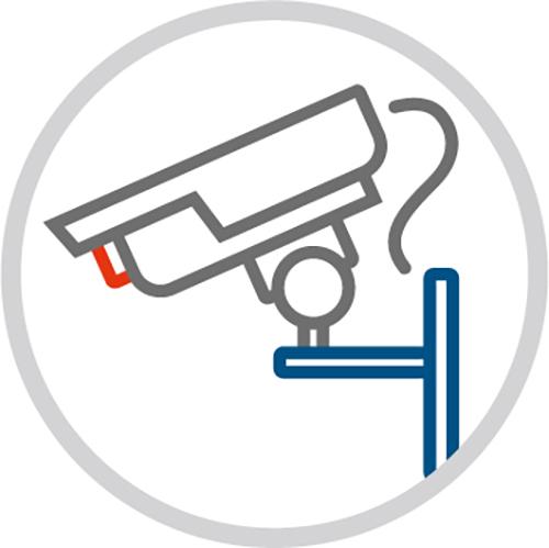 Grafik Videoüberwachunsanlage - Eine Initiative der Polizei - Rupprecht Alarmanlagen aus Hamm - Seit mehr als 35 Jahren auf elektronische Sicherheitssysteme spezialisiert.